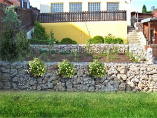Darabos kő - dróthálós kőfalhoz