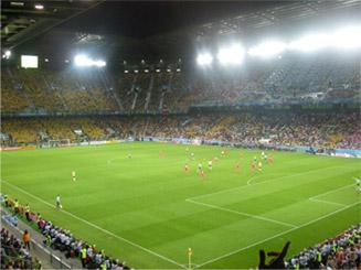 Készgyep stadionban