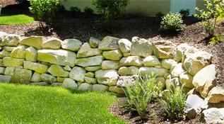 Pilisi kő - virágágyás támfal építéséhez